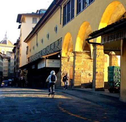 Crossing the Ponte Vecchio