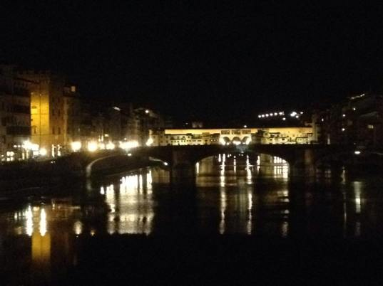 evening lights along the Arno